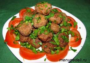 Мясные шарики с имбирем и соевым соусом