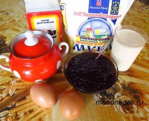 Продукты для быстрого пирога из варенья