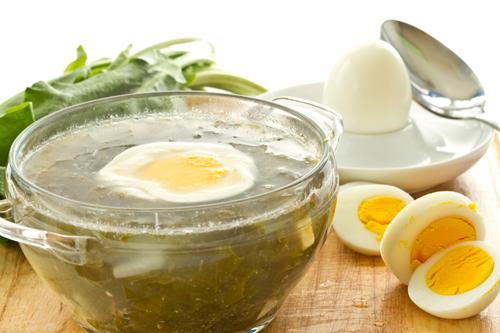Суп из щавеля с яйцом без мяса