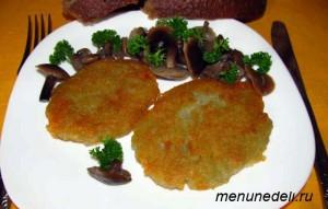 Драники из картофеля постные