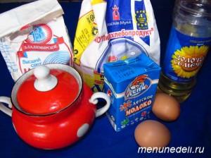 Продукты для тонких блинов со сливочным маслом