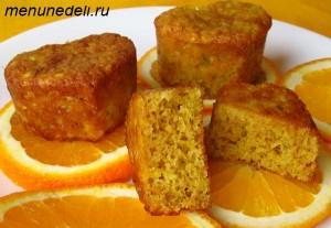 Маленькие апельсиновые кексы с оливковым маслом