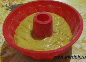 Кекс из тыквы перед выпеканием