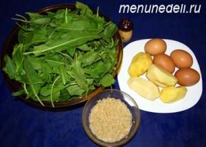 Продукты для щавельника с яйцом без мяса