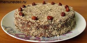 Торт Добош целиком общий вид