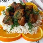 Свинина в апельсиновой глазури