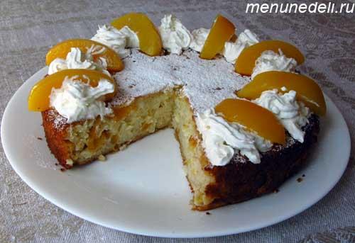 Голландский рисовый торт с миндалем и абрикосами