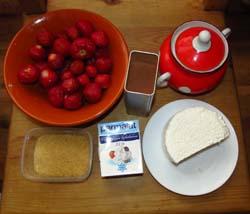 Продукты для творожного торта с клубникой без выпечки