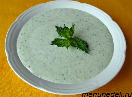 Кефирный суп с огурцами орехами и зеленью