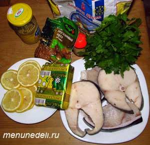 Ингредиенты для рецепта рыбы, запеченной под соусом
