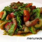 Рецепт салата с мясом и овощами