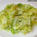 Рецепт салата из свежей капусты с яблоком
