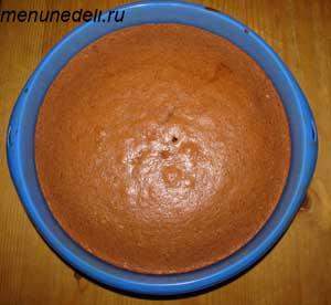 Готовый корж для торта пьяная вишня