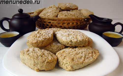 Овсяное печенье из хлопьев геркулес