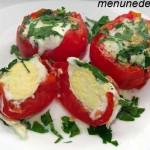Рецепт помидор, фашированных яйцами