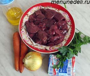 Ингредиенты  для паштета из куриной печени