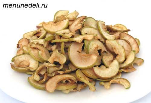 Как засушить яблоки - рецепт с фото