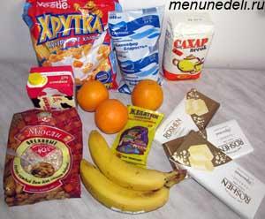 Ингредиенты для легкого белого торта