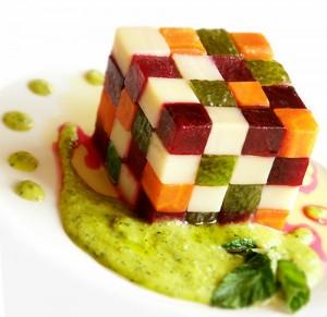 кубик рубик из овощей символизирует правила составления салатов