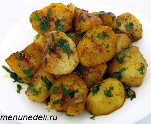 Рецепт картофеля со специями