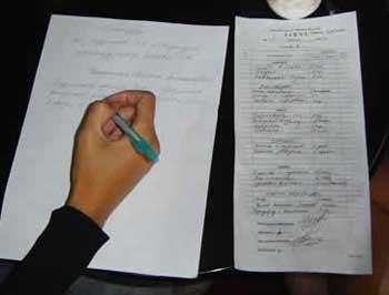 Составление меню на неделю на бумажном листе