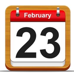 Дата праздничного дня на календаре