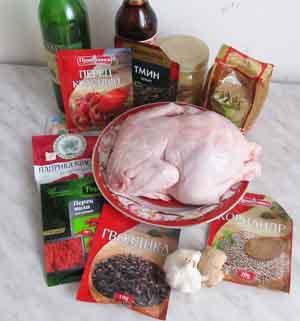 Ингредиенты для курицы в медовом маринаде