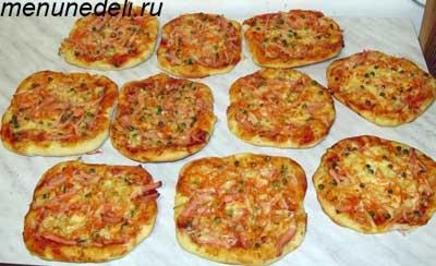 Домашняя пицца с разными несладкими начинками для перекуса на работу