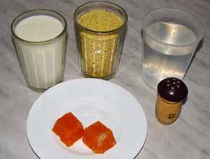 Ингредиенты для приготовления пшеной каши с тыквой