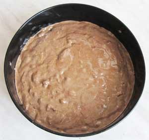 Тесто для шоколадного торта в форме