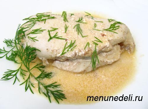 Филе цыпленка под соусом