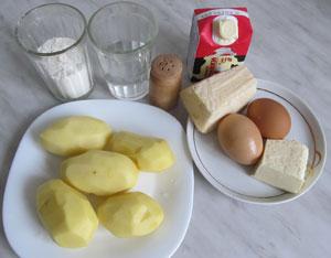 Ингредиенты для приготовления клецок под сырным соусом