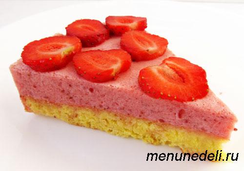 Простой клубничный торт рецепт