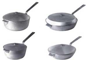 Алюминиевые сковороды различных размеров