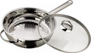 Сковорода сотейник из нержавеющей стали с прозрачной крышкой