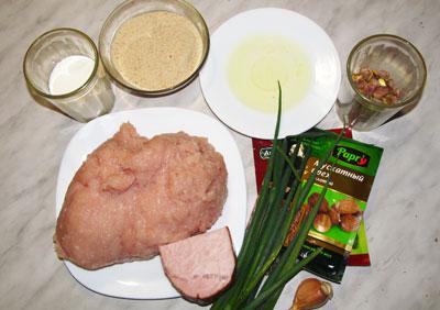 Продукты для паштета из курицы с фисташками