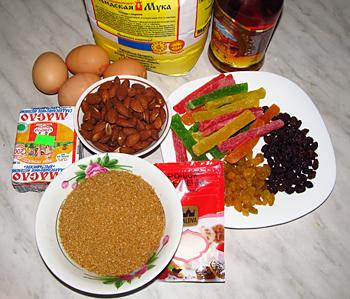 Ингредиенты для приготовления рождественского кекса