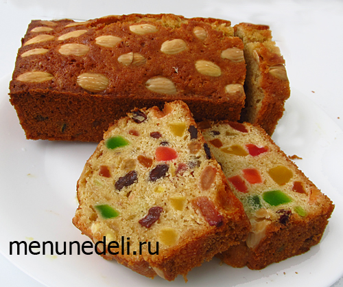 Рецепт рождественского кекса с цукатами и орехами