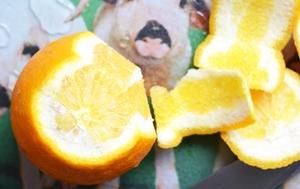 Очищение апельсина от кожуры