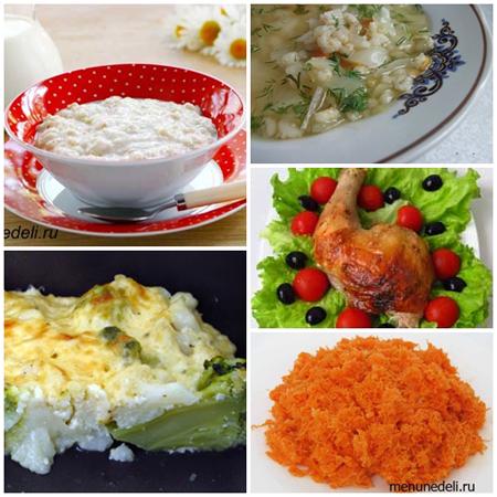 меню еды на неделю для семьи