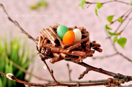 Как приготовить пасхальные гнездышки