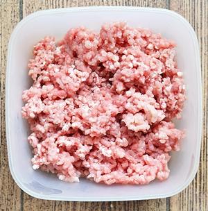 Мясо пропущенное через мясорубку