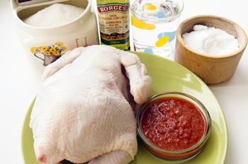 Ингредиенты для приготовления курицы в духовке с карамельной корочкой