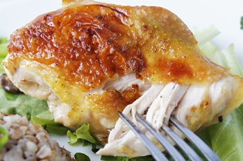 Курица приготовленная в духовке с карамельным соусом