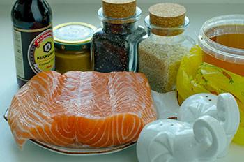 Ингредиенты для шашлыков из семги