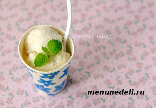 Мороженое без яиц с зеленым чаем