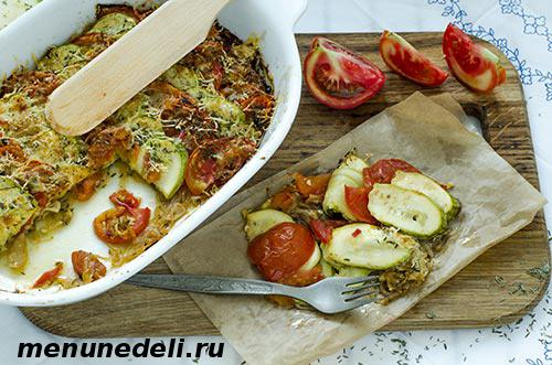 Рецепт гратена из кабачков и помидоров -просто и полезно!