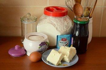 Ингредиенты для песочного пирога со смородиновым вареньем