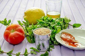 Ингредиенты для кысыр холодной каши из пшеницы