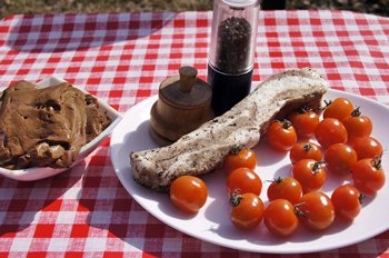 Ингредиенты для шашлыка из свиной печени